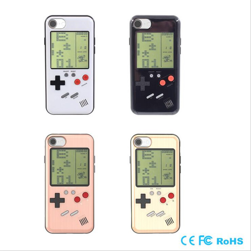 KINGMAS Retro Tetris Phone Cases For iPhone 6 6S 7 8 Plus TPU Ultra Slim Can Play Blokus Game Console Cover Protection Gift