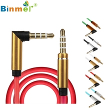 Levert Dropship Binmer  3.5mm Jack Elbow Male to Male Stereo Headphone Car Aux Audio Extension Cable Best Sound Quality