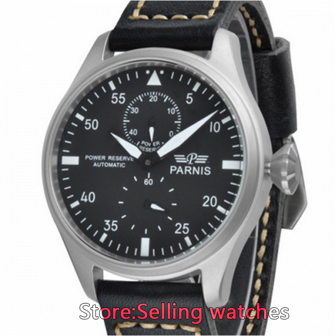 47mm Parnis Dial Power Reserve Men Automatic Watch power reserve 1x