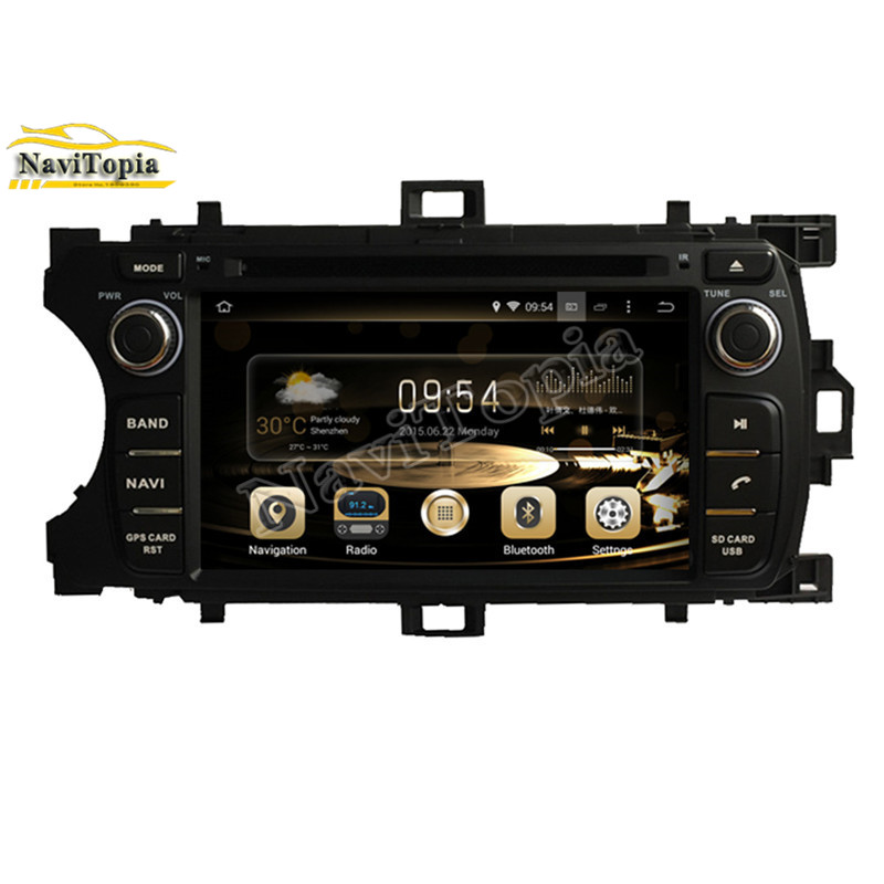 NAVITOPIA 4G RAM Eight Octa Core 8 Core 32G Android 8.0 Car DVD Multimedia Player for Toyota YARIS 2011- GPS+Radio Stereo
