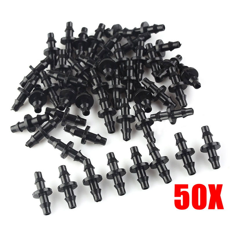 50pcs Patio Lawn Irrigation 35mm Plastic hose Connectors for Cooling System TB Sale