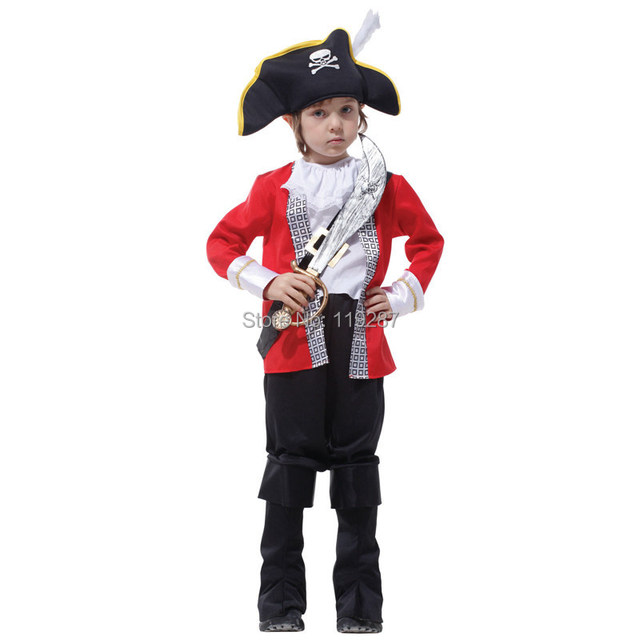Children's Classic Halloween Costumes Boys Hook Pirate Costume ...