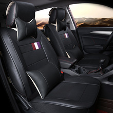 automotive cushions set car seat covers leather mat pads for Cadillac CTS CT6 SRX DeVille Escalade SLS ATS-L/XTS free shipping цена и фото