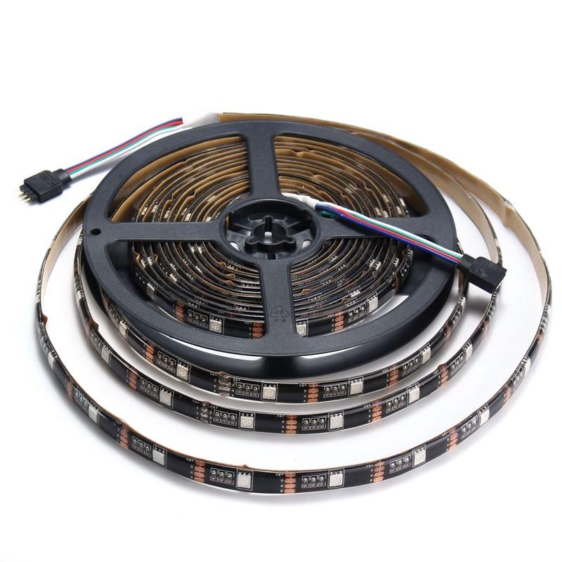 Flexible 0.5/1/2/3/4/5M Waterproof IP65 RGB LED Strip Light 5050 SMD USB Cable LED TV Background Lighting Kit 5V DC