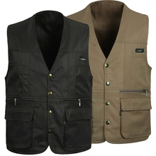 4 Colors Male Casual Multi Pocket Vest For Summer Men Solid Photographer Shooting Outerwear Zipper Waistcoat Sleeveless Jacket