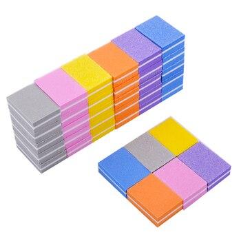 20pcs/lot Double-sided Mini Nail File Blocks Colorful Sponge Nail Polish  5