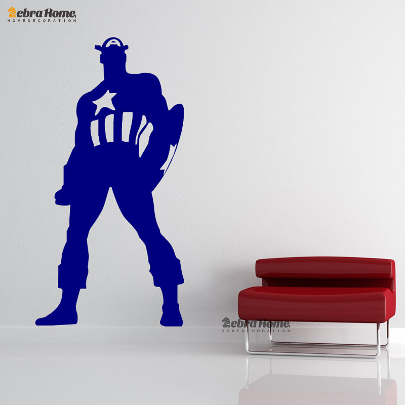 Batman Captain America Hulk Superman Wall Decal Stickers For Living Room  Art Vinyl Murals Wallpaper For Bedroom Home Decoration In Wall Stickers  From Home ...