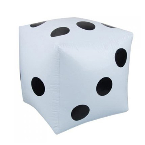 5 pack 2 pcs. White Large Inflatable Dice Favors Pool Toys