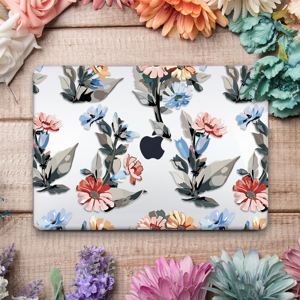 Floral Printing Hard Case for MacBook 123