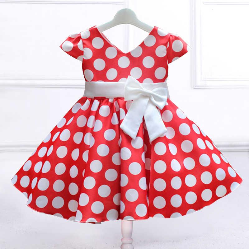 b6040a91f30ecb4 Розничная продажа, платье в горошек с большим бантом, детское праздничное  платье для девочек,