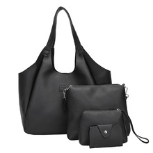 Womens  2019 New PU Single Shoulder Four-piece Portable Fashionable Large Capacity Tote bag