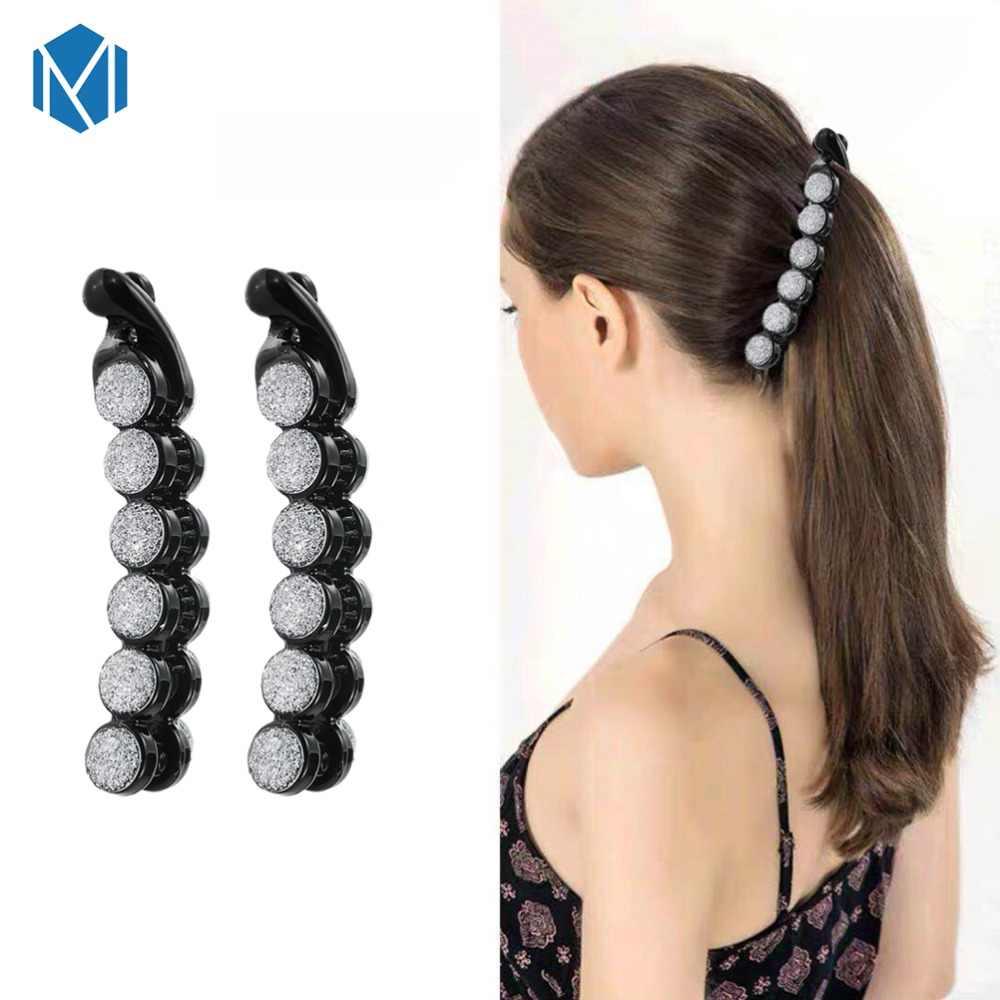 10CM nowe mody w kształcie banana włosy z tworzyw sztucznych klipy dla strasy dla dziewczynek spinki do włosów spinki kryształowe Barrettes accesorios pelo