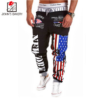 New Fashion Men S Jogger Trousers Flag Printing Military Pants Male Compression Pant Casual Tactical Pant