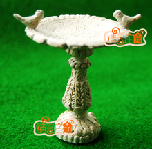 G05-X482 barn baby gave Toy 1:12 Dollhouse mini Møbler Miniature rement garden Skulptur dam og fugler 1pcs