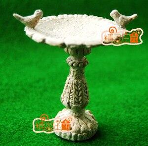 G05-X482 children baby gift Toy 1:12 Dollhouse mini Furniture Miniature rement garden Sculpture pond and birds 1pcs