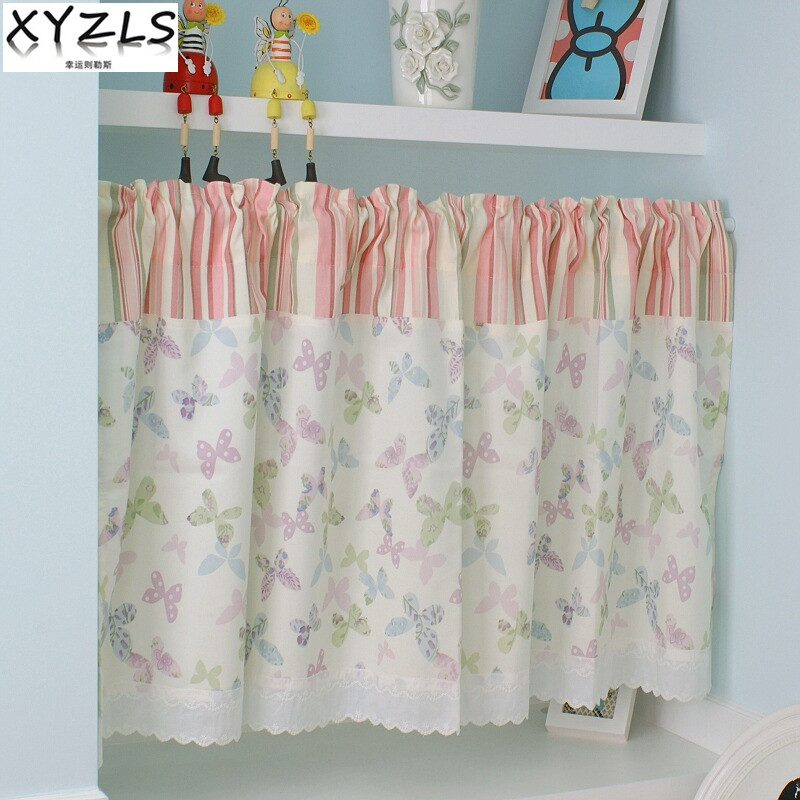 Kitchen Cafe Curtains Modern: Aliexpress.com : Buy XYZLS New Modern Pastoral Butterfly