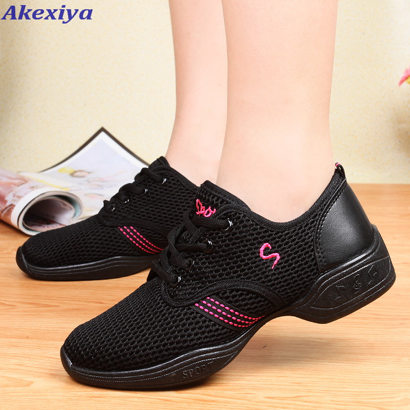 Womens Danse Shoes Modern Children's Ladies Breathing Fitness Dance Shoes Men's Soft Dance Sneakers Jazz Dance Shoes Dance Shoes