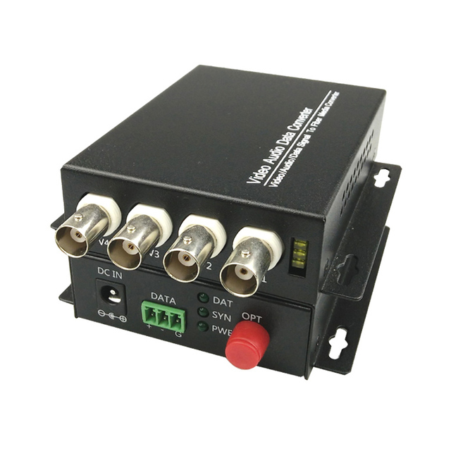 4 CH Video Fiber Optical Media Converters -4 BNC Transmitter Receiver  Single mode 20Km For CCTV Surveillance system