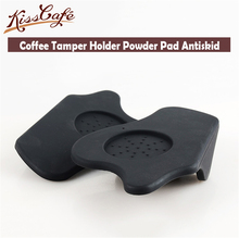 1pc Semi-automatic Silicone Coffee Tamper Holder Powder Pad Antiskid Mat Espresso Machine Table Side