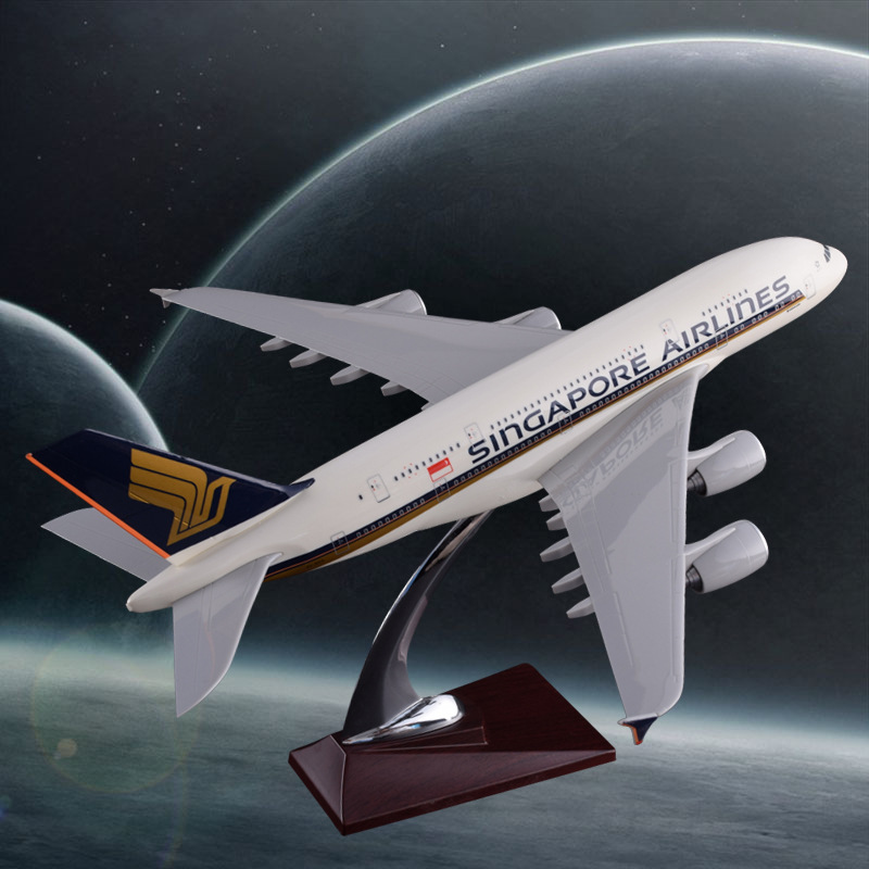 36cm Resin Airbus A380 Model Singapore Airlines Model Air Singapore Aircraft Model Airplane Aviation Model 36cm resin a380 qatar airlines airbus model qatar international aviation airways aircraft model a380 airplane plane model toy