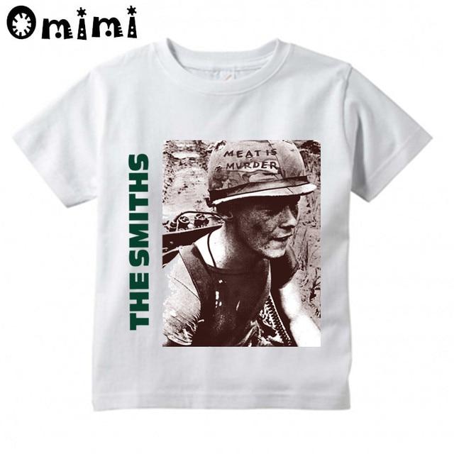 70760dda9cb7 Children The Smiths England Rock Band Is Murder 1985 Morrissey Design Tops  Boys/Girls Casual T Shirt Kids Cool White T-Shirt