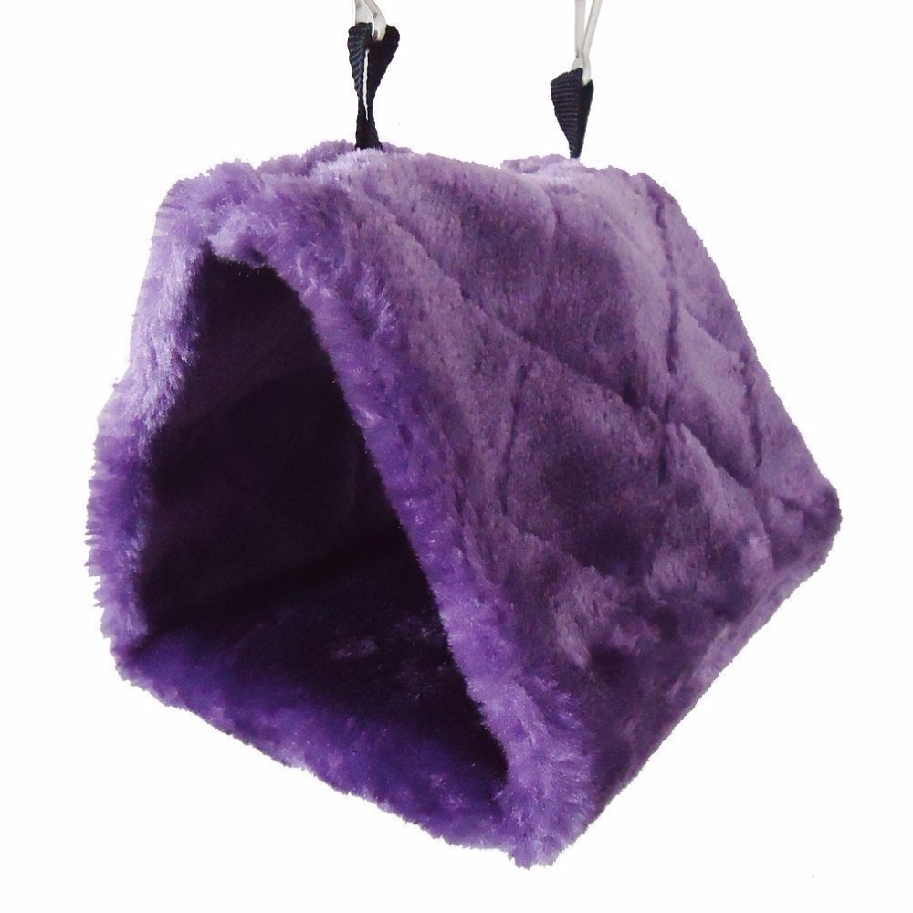 Warm Soft Bird Hanging Tent Bed Parrot Hamster Cave Cage Hammock Small Pets Hanging Bed House