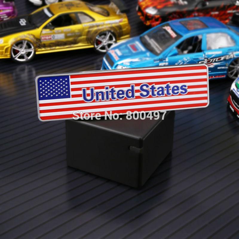 10 X Terbaru 3D Bagasi Mobil ABS Lencana Emblem Untuk Bintang Dan Stripes Stiker Perekat Motocross