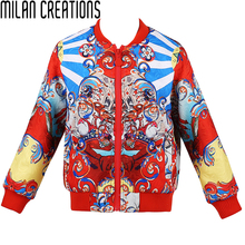 Baby Girls Jacket Children Coat 2016 Autumn Winter Girls Coats and Jackets Carretto Print Kids Jacket for Girls Outerwear