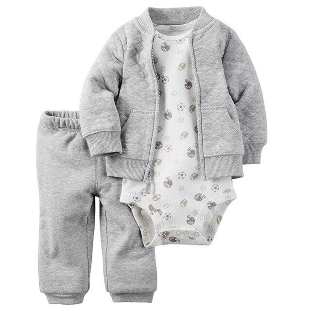 Детей bebes 2017 новорожденных девочек мальчиков Письмо комплект одежды, дети мальчик в девочке одежда набор толстовка новорожденных толстовки комплект одежды