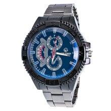 Homens de moda venda quente forma motion aço inoxidável esporte quartz horas analógico relógio de pulso presente 1 pcs jan 20