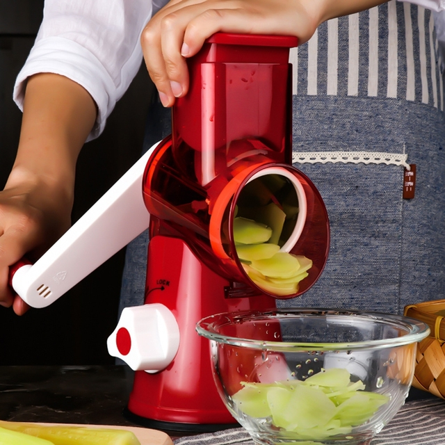 Multi Slicer Vegetable Fruit Cutter Round Mandoline Choppers Cheese Grater Carrot Potato Julienne Blades Kitchen Tools