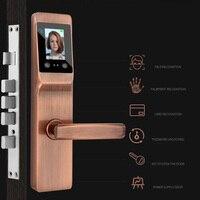Mejor Reconocimiento biométrico inteligente de cara desbloqueo de Palma cerradura de seguridad cerradura digital con huellas dactilares