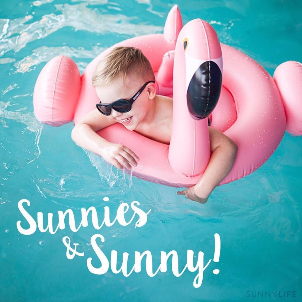 Free Gift Inflator Baby Swimming Float Baby Seat Float Inflatable Flamingo Swan Kids Summer Fun Pool Water Toy