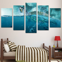5 Piece Canvas Art HD Printed 5 piece canvas art paintings ocean turtle animal canvas posters and prints wall decorations living