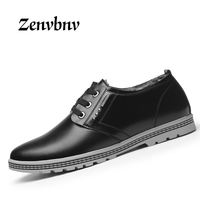 ZENVBNV 2017 Autumn Winter New Men Casual Shoes Genuine Leather British Lace Up Male Shoes warm Cow Suede Flats Plus Size 38-44 rax suede leather casual shoes men warm autumn and winter outdoor shoes slip cushioning wear casual shoes size 39 44 b2039