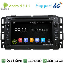 Quad Core 7INCH 1024*600 Android 5.1.1 Car DVD Multimedia Player Radio Stereo PC DAB+ FM BT 3G/4G WIFI GPS Map For GMC 2015-2016