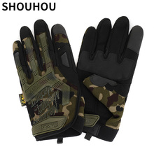 SHOUHOU 2018 New Arrival Men Sports Gloves Fashion Full finger Tactical Gloves Male Anti slip Gloves