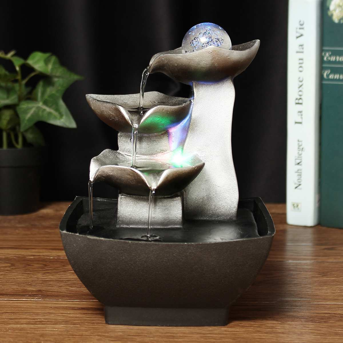 Rockery Relaxation Indoor <font><b>Fountain</b></font> Waterfall Feng Shui Desktop <font><b>Water</b></font> Sound Table Ornaments Crafts <font><b>Home</b></font> <font><b>Decoration</b></font> Accessories image