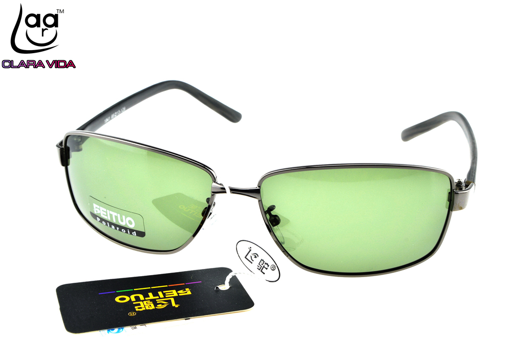 =CLARA VIDA= Custom Made NEARSIGHTED MINUS PRESCRIPTION Cool Mens Rectangle TR90 Temple Designers Polarized sunglasses -1 to -6