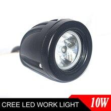 10 W Mini LED Luz de Trabalho Offroad Car Auto Truck ATV LED Motocicleta Luz de Condução Nevoeiro Lâmpada Spot 30 Feixe farol