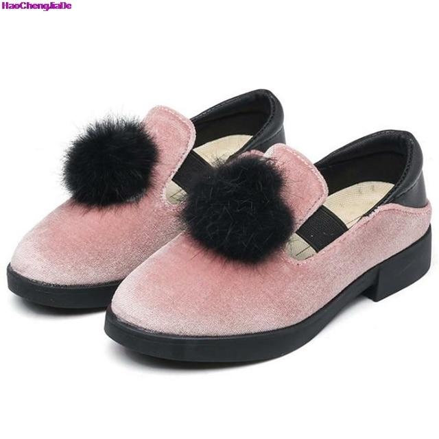 9bf05aa95 Haochengjiade الخريف بنات اللباس أحذية أطفال pu الأحذية الجلدية الفتيات حذاء  الأميرة لطيف أحذية الأطفال أطفال