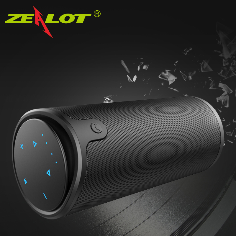 ZEALOT S8 Stereo Wireless Bluetooth Speaker Outdoor Touch Control Support TF Card subwoofer Handsfree With Mic Portable Speaker nby18 outdoor mini bluetooth speaker portable wireless speaker music stereo subwoofer loudspeaker fm radio support tf aux usb