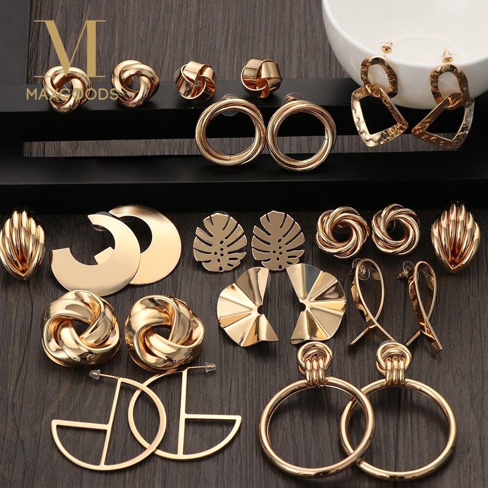 2019 Fashion Classic Gold Farbe Verdreht Liebe Knoten Stud Ohrringe Für Frauen Einfache Geometrische Kleine Ohrringe Hochzeit Braut Schmuck Ohrstecker