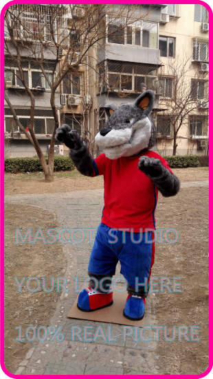 mascot plush grey wolf coyote mascot costume custom fancy costume anime cosplay kits mascotte cartoon theme fancy dress