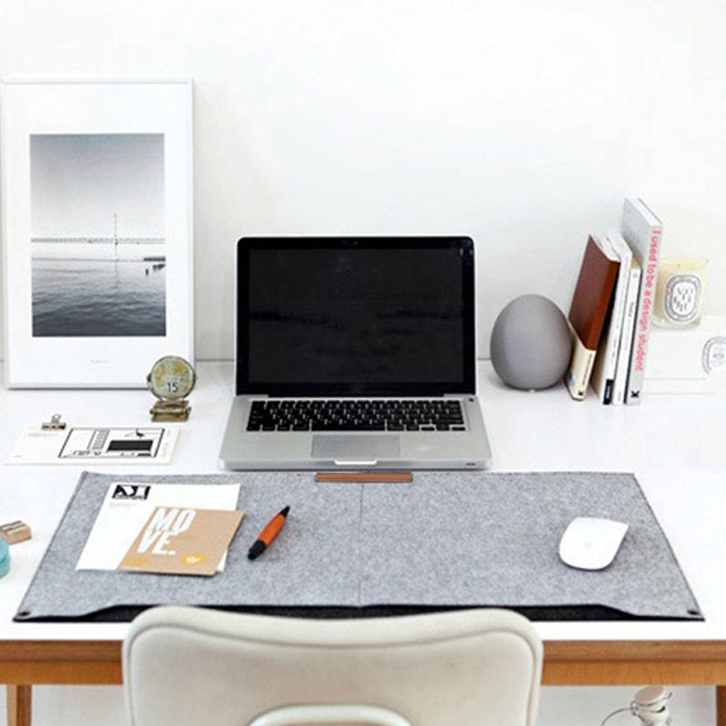 New Ho New Comfortable Computer Desk Table Felt Mat Office Desk Mouse Pad Holder Laptop Cases Cushion Mouse Pads Q99 @88