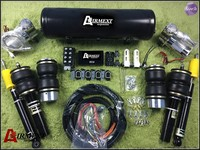 AIRMEXT Dual pump Air suspension kit/whole kits pneumatics Top grade kits/ air spring+coilover assembly/air management