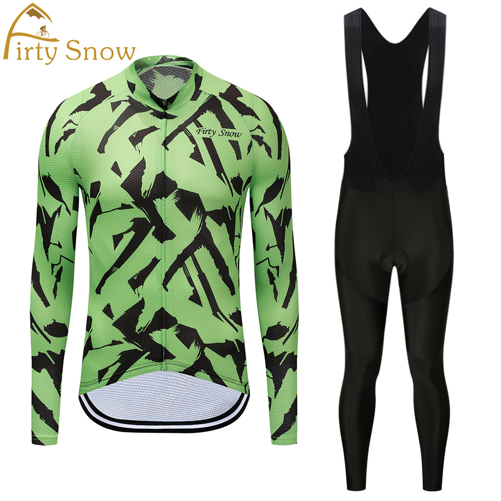 Firty Snow Brand 2018 High Quality Newest Pro Fabric Cycling Jerseys Wear Long Sleeves Set Bike Clothing Pants