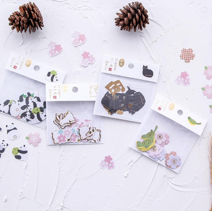 Little Animal Panda Bird Label Stickers Set Decorative Stationery Stickers Scrapbooking DIY Diary Album Stick Lable spring and fall leaves shape pvc environmental stickers decorative diy scrapbooking keyboard personal diary stationery stickers