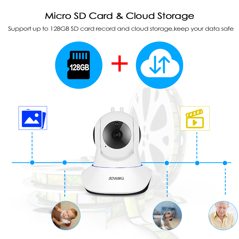 WIFI CCTV 1080P 720P IP Kamera Wireless Baby Monitor Home Security - Schutz und Sicherheit - Foto 5