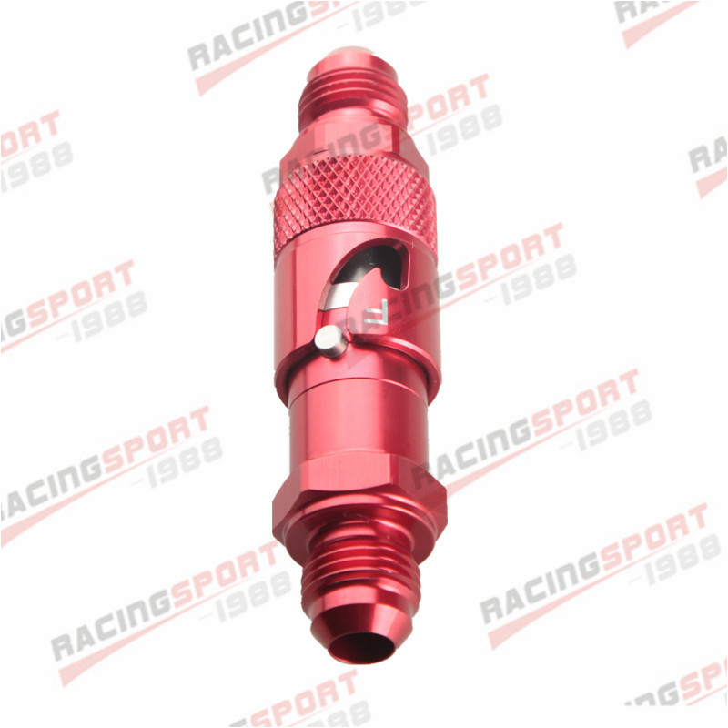 AN 6 AN6 -6AN 6AN Quick Release Fittings Fuel Adaptor Hose RedAN 6 AN6 -6AN 6AN Quick Release Fittings Fuel Adaptor Hose Red